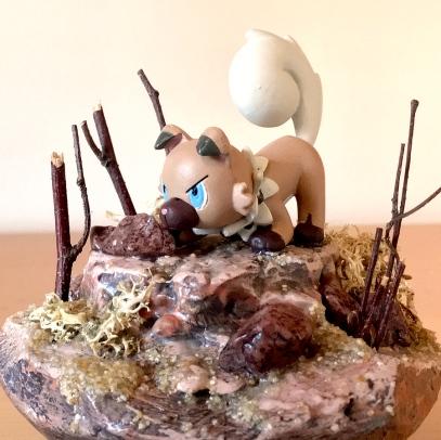Pokemon Diorama shark-snail (1)