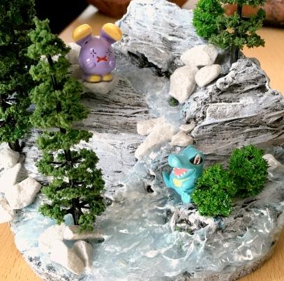 Pokemon Diorama shark-snail (3)